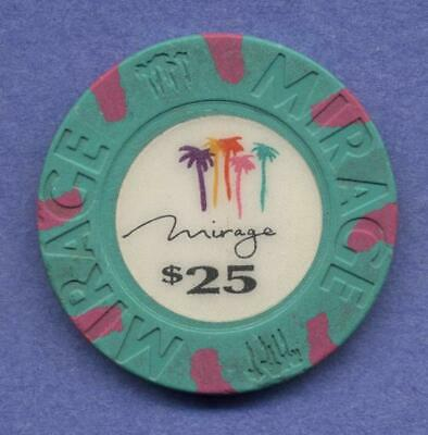 The Mirage,  Las Vegas, $25 house chip  from 1989  TCR# N4669