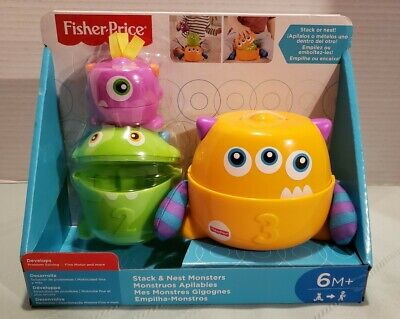 Fisher Price Stack and Nest Monsters 6 months+ NEW NIB