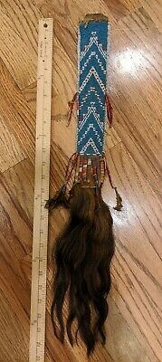 Antique Native American Sioux Beaded Hair Ornament