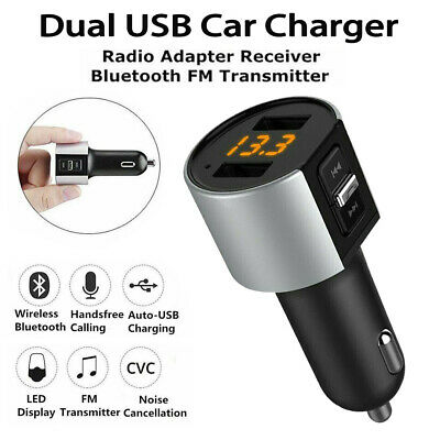 Wireless Bluetooth Car FM Transmitter Charger Radio MP3 Player USB Handsfree