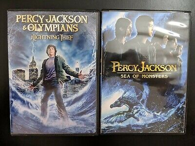 Percy Jackson: The Lightning Thief 1 & Sea of Monsters 2 Bundle (DVDs) Complete