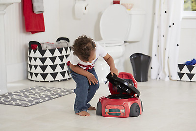 ~Potty Training Chair Kids Toddler Toilet Seat Car Racer Baby Child Boys Potty~~