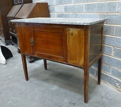 vintage 1900,s mahogany marble top washstand, side table, bathroom, hall kitchen