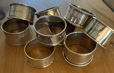 antique sterling silver napkin rings