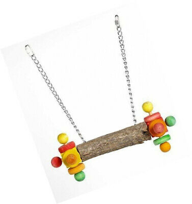 Double Wooden Twirler Activity Swing for Parrots