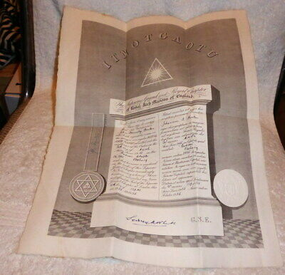 Masonic Chapter Certificate Godson Chapter No 2385  Oldbury 1955