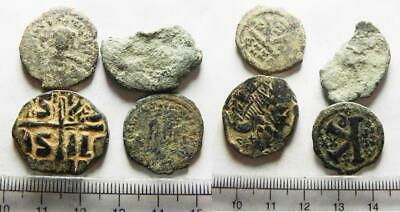 ZURQIEH -as16766- AS FOUND: LOT OF 4 ANCIENT BYZANTINE BRONZE COINS