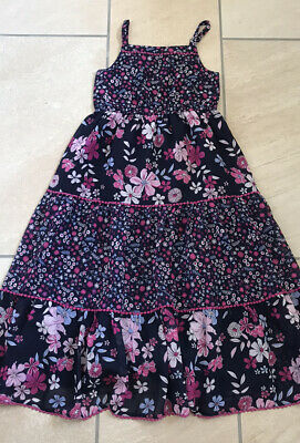 Girls Summer Floral Maxi Dress Purple & Pink Aged 8-9 Years