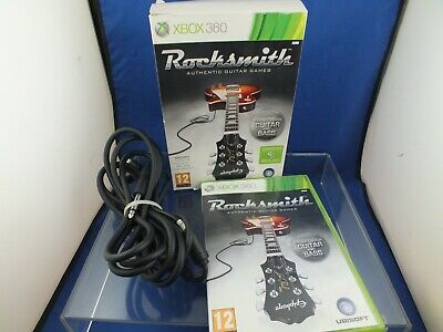 XBox 360 RockSmith Game . Learn Guitar . Real Tone Cable , Game Full Set - MINT