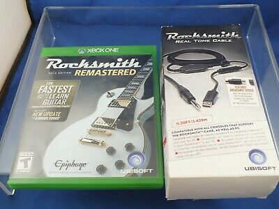 XBox ONE 2014 Edition RockSmith Learn Guitar Game Real Tone Cable , Game  - MINT