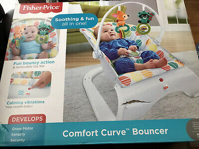 Fisher-Price Comfort Curve Bouncer Multicolor ~Brand New~
