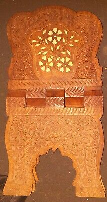 Small Carved Book Stand
