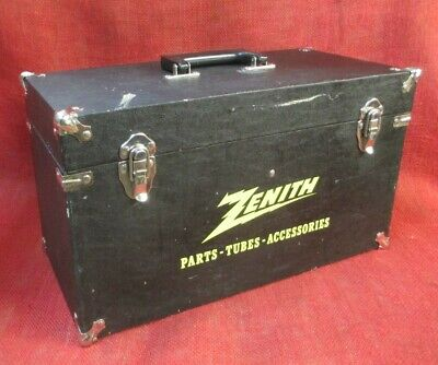 Vintage ZENITH Tube Radio Carrying Case, Repairman Service Tool Box, w/Contents