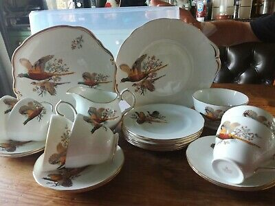 Duchess Bone China Pheasant Pattern afternoon tea set