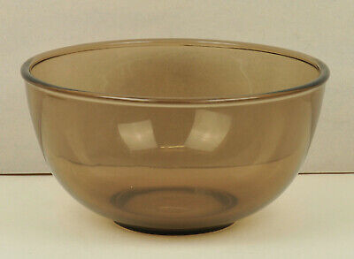 Mixing Bowl   By Pyrex In Brown Smoked  Glass