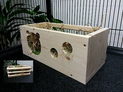 Large HAY CRADLE Hay Feeder Rack for Rabbit, Guinea Pig,Chinchilla Cage/Hutch