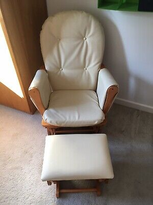 Maternity Nursing Glider Chair With Gliding Stool