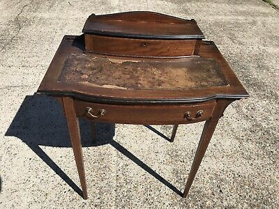 1930s Reproduction Regency Style Writing Desk In Need Of TLC.