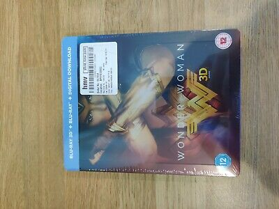 Wonder Woman - Dc Hmv Exclusive 3D & 2D Blu Ray Steelbook