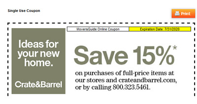 Crate And Barrel 15% Off Coupon Online & In-Stores exp 7/31/20