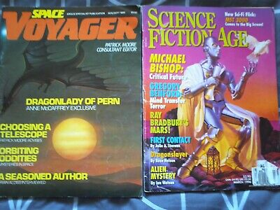 2 X Magazines,Science Fiction Age, Space Voyager,