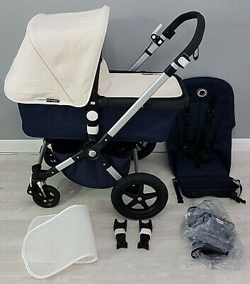 Bugaboo Cameleon 3 Navy Blue Classic edition off white pram / pushchair