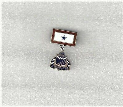 """RARE WWII STERLING BLUE STAR SON IN SERVICE """"ROCK OF THE MARNE"""" Sweetheart Pin"""
