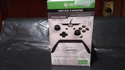 PDP Xbox One & Windows Wired Controller-STEALTH SERIES-Ghost White