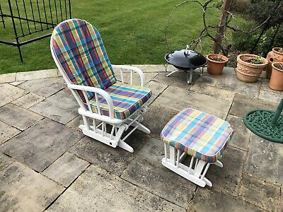 Nursing Glider Rocking Chair with Stool.