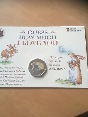 2020 BUNC Coloured 50p Coin ( Guess How Much I Love You ) Low Mintage
