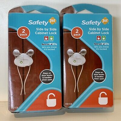 2 Safety 1st Side by Side Cabinet Locks 2 Pack -Safety First - New and Sealed