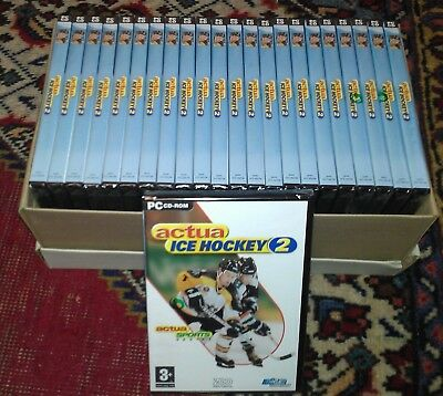 X24 Joblot Collection of New Old Stock Sealed Retro PC Game Actua Hockey 2 -BNWT