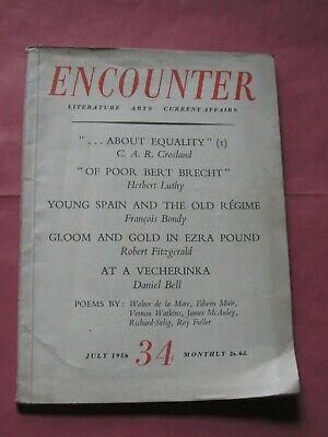 Encounter Magazine Literature Arts Current Affairs July 1956 Anthony Crosland