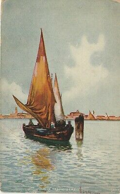 In Tropic Seas Sailboats Postcard Divided Back Unknown