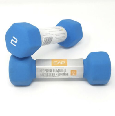 NEW CAP Neoprene Hex 2 Lb Dumbbells Hand Weights 1 Set Pair Fast Shipping!