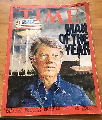 Vintage TIME Magazine 1977: Jimmy Carter, Marlboro Man Advert
