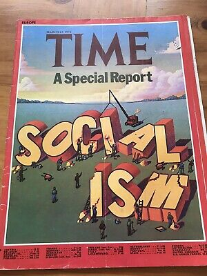 TIME Magazine 1978: Socialism Special Report, Miners, Rolex Awards 4 Page Advert