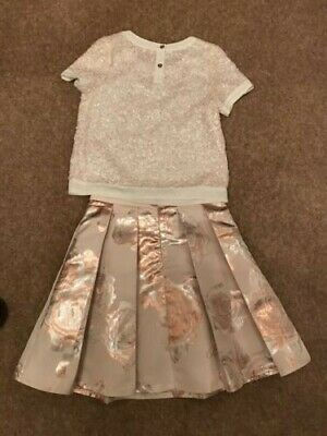 Ted Baker Girls Skirt & Matching Top (Age 11 Years)