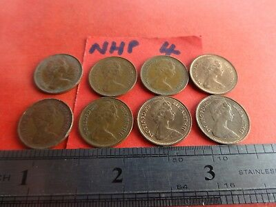 -Collection of 8 Half New Penny Coins   hp4