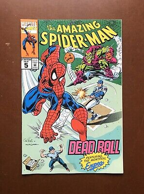 Amazing Spider-Man #5 (1993) Dead Ball Montreal Expos Scarce High Grade Nm-