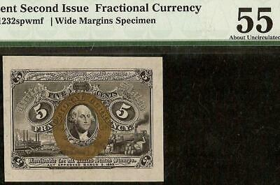 5 Cent Wide Specimen Fractional Currency United States Note Csa Paper Pmg 55