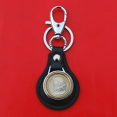 2015 Louisiana Kisatchie National Forest Quarter Coin Leather Key Chain Ring
