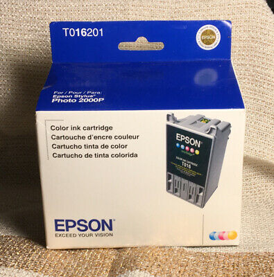Genuine Epson Color Ink Cartridge T016201 sealed (for Epson Stylus Photo 2000P)