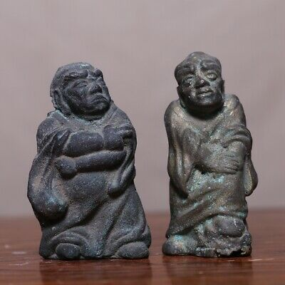 "Very Fine Old Chinese Bronze Buddha Arhat ""LuoHan"" Figure Statues"