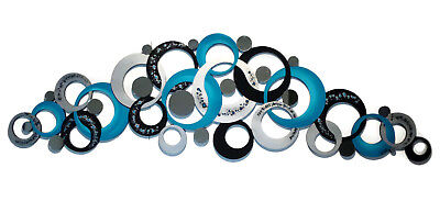 Contemporary Modern Abstract Circles, Mirror Wall Art, Turquoise Circles decor