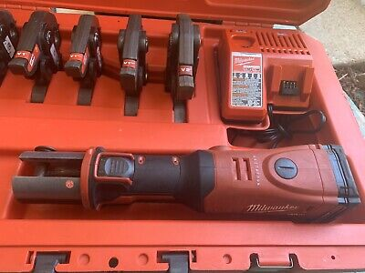 "Milwaukee M18 FORCE LOGIC Pro Press Tool Kit with Six (6) Jaws 1/2""-2"" (2773-22)"
