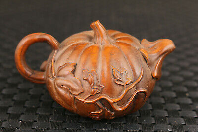lovely collection chinese boxwood hand carved tea pot tea pet decoration