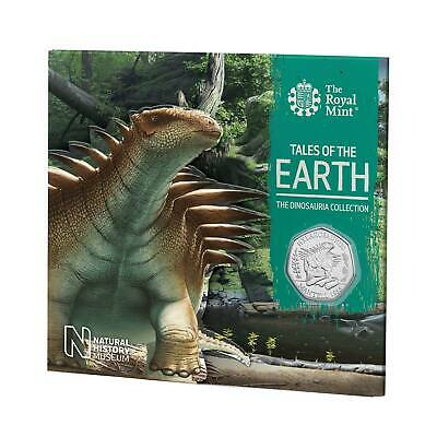 2020 Dinosauria BUNC UK 50p Hylaeosaurus Dino 3rd Coin in Royal Mint Sealed Pack