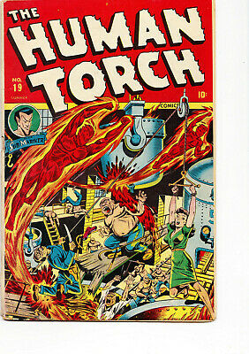 HUMAN TORCH #19 1945 Good condition Wild cover + Sub-Mariner!!!!