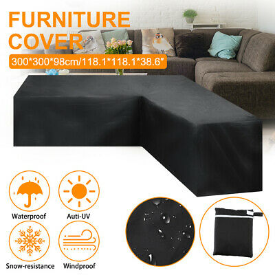 Garden Rattan Corner Furniture Cover Outdoor Sofa Protective Waterproof V Shape